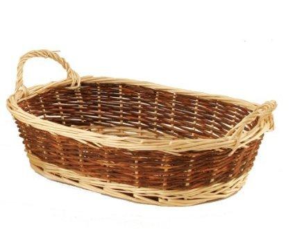 Amazon.com: Empty Gift Basket - 2-Colored Wicker with Handles: Health & Personal Care