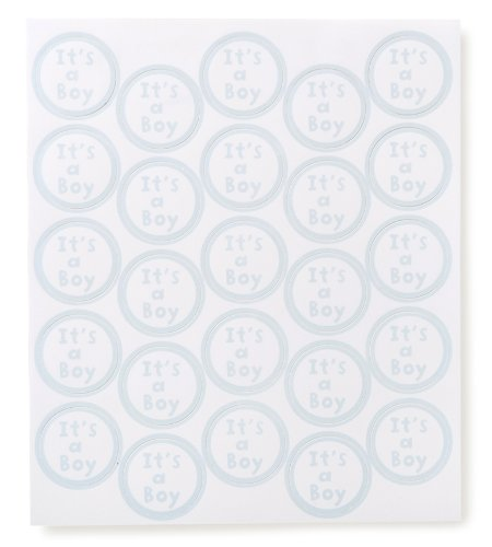 Hats Off Invites - Darice It's a Baby Boy Clear Seal, 50-Piece