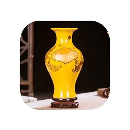 Jingdezhen Ceramic Vase Chinese Style Classic Postoral Vase+Base Figurines Fine Smooth Surface Home Furnishing Decor Articles,16