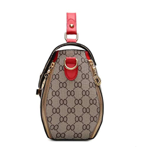 2 CM diagonal 2 Bolso Talla mujer Red coreana 13 20× Beige para style diseño ×20 corbata de de style mano SqqawHn4