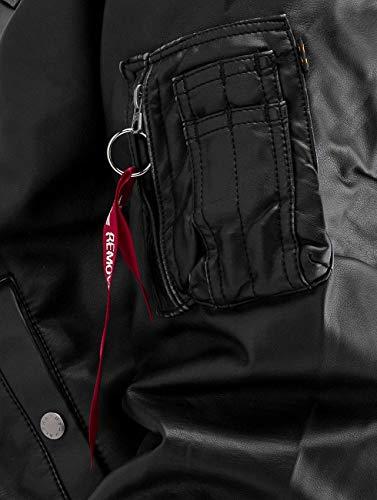D veste Industries Cuir amp; En amp; tec Homme Black Ma Blouson Vestes nbsp; Fl Manteaux Leather 1 Alpha OSFqF