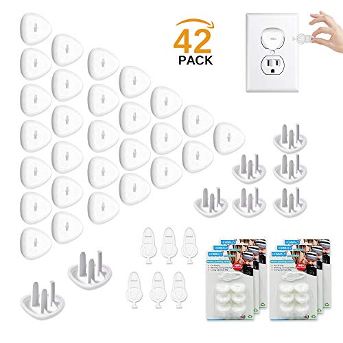 (Outlet Plugs Covers Baby Proofing(36 Plug + 6 Keys),Baby Safety 3 Prong Plug Cover Electrical Wall Socket Protector Caps Kit for Toddlers Child)