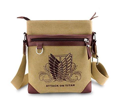 YOYOSHome Anime Attack on Titan Cosplay Satchel Messenger Bag Shoulder Bag Handbag Crossbody Bag