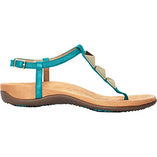Vionic Womens Rest Nala Toepost Sandal Teal Size 9 Wide