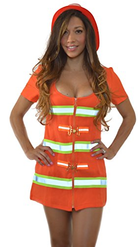 Sexitu Sexy Flaming Hot Firefighter Costume (Small)