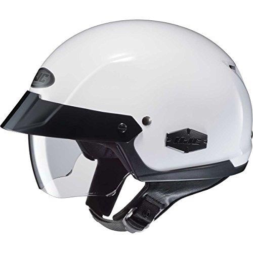 (HJC Solid Adult IS-Cruiser Harley Cruiser Motorcycle Helmet - White/X-Large)