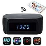 3 3 8 clock insert - JLRKENG Wireless Spy Hidden Camera Desk Table Clock for Baby Caring Pet Monitor Home Security Cam Motion Detection Alarm Night Vision Live View and Loop Recording 12-hour System Mini Nanny Cam