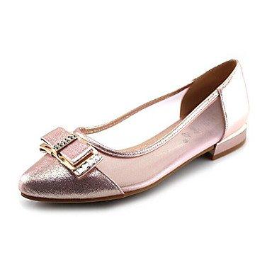Women'S Gold Heel Slip EU36 amp;Amp; UK3 Flat US5 Cute Blushing Flat Ons 5 CN35 Loafers Casual Fabric Spring 5 Pink Summer rwOqvEr