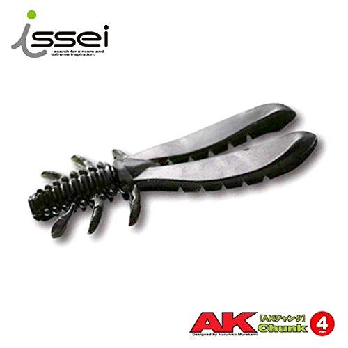 ISSEI(イッセイ) ワーム AKチャンク 4inch #17 スパイシーブラック(NS).の商品画像