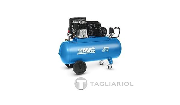 Abac Pro b5900b 270ct5,5Compresor 270L Motor Trifásico 5,5hp con transmisión a correa bistadio: Amazon.es: Bricolaje y herramientas