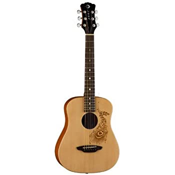 Luna Safari Series Henna 3/4-Size Travel Acoustic Guitar - Natural
