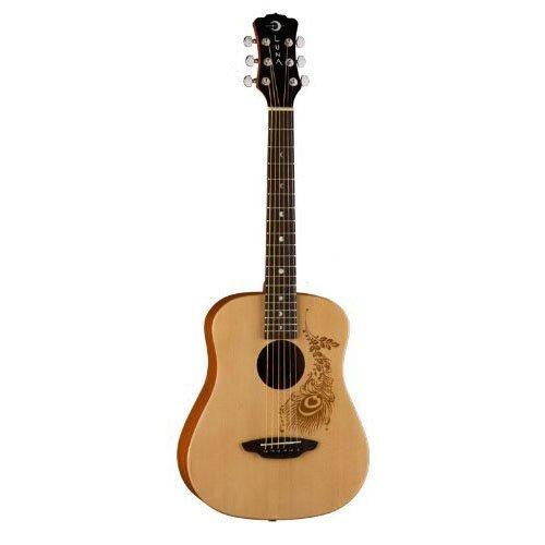 Luna Safari Series Henna 3/4-Size Travel Acoustic Guitar - Natural by Luna Guitars