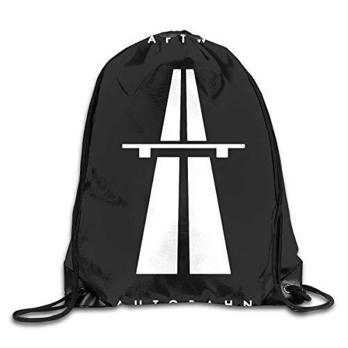 AlexisW Kraftwerk Autobahn Backpack Gymsack Drawstring Bags Sack Pack for Men & Women