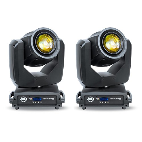 (2) American DJ Vizi Beam 5RX DMX Intelligent Moving Head Lights With Multiple Colors and Gobos