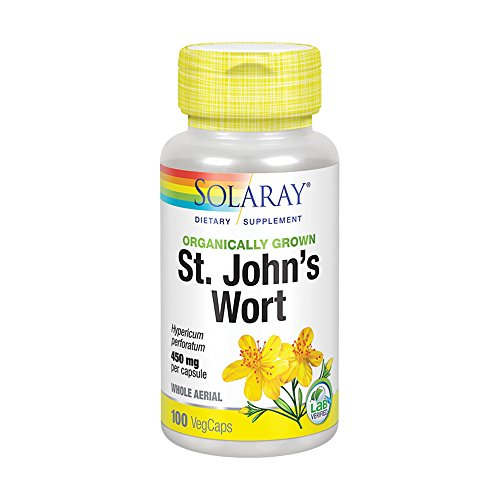 Solaray Organic St. John's Wort 450mg 100 Count