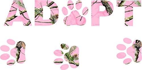 ^ Adopt Pink Camo Sticker Decal ^