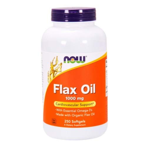 Organic Flax Oil, 1000 mg, 250 Sgels by Now Foods (Pack of 6)