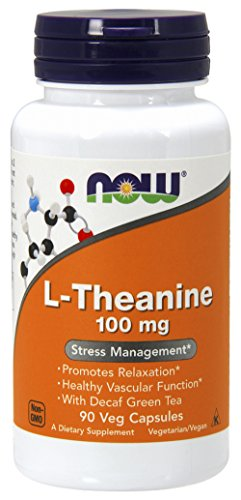 NOW L-Theanine, 100 mg, 90 Veg Capsules by NOW Foods
