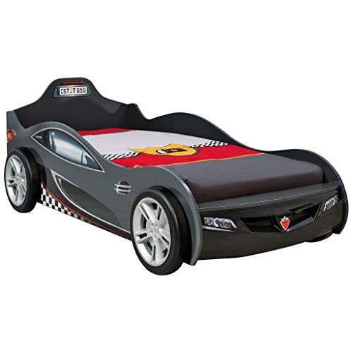 Race Car Bean - Cilek Kids Room 20.03.1322.00 Cup Black Twin Race Car Bed,