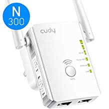 Cudy RE300 300Mbps WiFi Range Extender, WiFi Booster, WiFi Extender, Access Point Mode, 2 LAN Ports, WPS, Extends Wi-Fi Range to Smart Home & Alexa Devices, Compatible with All Popular Wi-Fi Routers