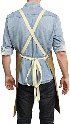 Readywares Waxed Canvas Utility Apron, Cross-back Straps (Tan) by Readywares (Image #2)