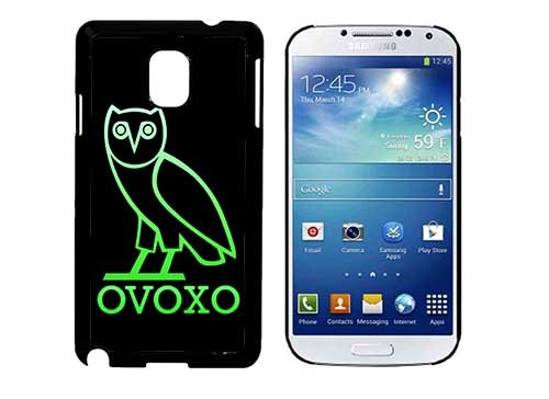 OvOXo Owl With Letters Green Galaxy Note 3 Phone Case