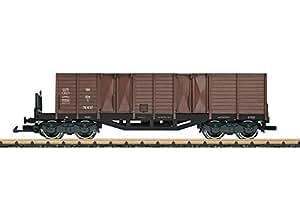 LGB G SCALE TYPE OOM-S 4-AXLE WOOD GONDOLA - READY TO RUN -- AUSTRIAN FEDERAL RAILWAYS OBB (ERA IV, BOXCAR RED) 42637