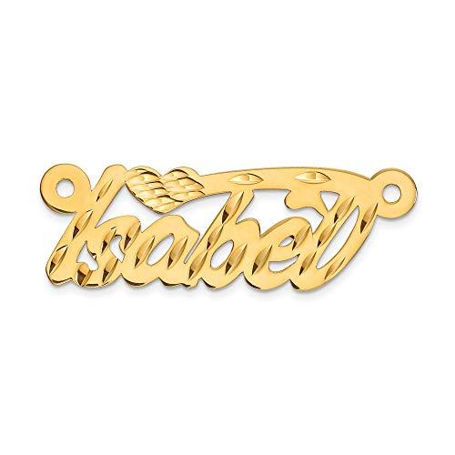 - Bonyak Jewelry 10k .013 Gauge Diamond-Cut Name Plate Pendant in 10k Yellow Gold