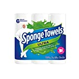 Spongetowels Ultra Paper Towels, Choose-A-Size Regular Roll, 6 Count