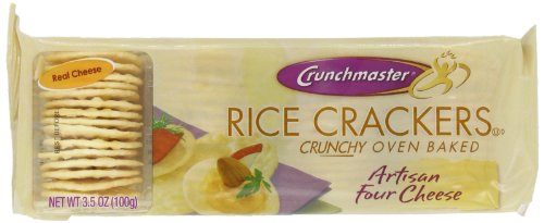 Crunchmaster Artisan Four Cheese Rice Cracker, 3.5-Ounce (Pack of - Crunch Case