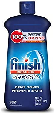 Finish Jet-Dry Rinse Aid, 23oz, Dishwasher Rinse Agent and Drying Agent, Packaging may vary