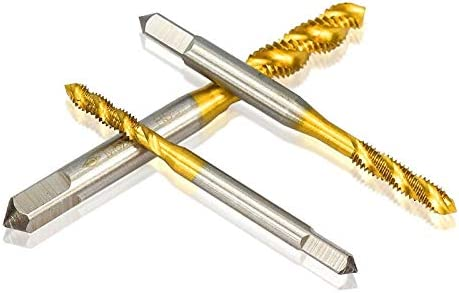Bohrer Bohren 1-Teiliger Metrischer Gewindebohrer M2-M8 Schnellarbeitsstahl 6542 Gewindebohrer Tin-Beschichtungsspiralmaschine Gewindebohrer-1Pc_M8X1.25