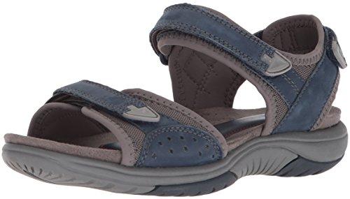 Rockport Womens Franklin Three Strap Sport Sandal Blue
