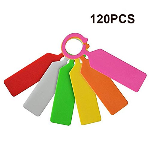 KINGLAKE 120 Pcs Colorful Thick Tree Tags Labels Plastic Plant Labels Tags Garden Hanging Tree Tags Markers Weatherproof Garden Labels 11cm 6 Colors by KINGLAKE