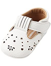 Baby Girls Pu Leather Embroidered Soft Bottom Non-Slip Princess Shoes First Walkers Shoes