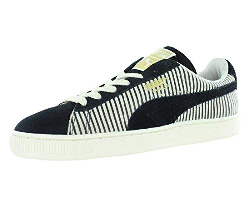 PUMA Women's Suede Lo Blocks Classic Sneaker, Black, 9 B US