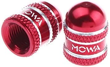 MOWA Presta French Road Mountain Bicycle Bike Cycling Tire Valve Caps 1pr Red