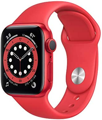New Apple Watch Series 6 (GPS, 40mm) - (PRODUCT)RED - Aluminum Case with (PRODUCT)RED - Sport Band