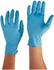 Liberty Glove & Safety 2008W Nitrile Industrial Glove, Powdered, Disposable, 8 Mil Thickness, Medium, Blue (Box of 50)