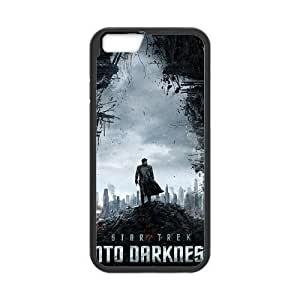 Pattern Hard Case Cover iPhone 6s 4.7 Inch Cell Phone Case Black Star Trek Tzkte Back Skin Case Shell