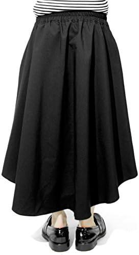 スカート メンズ ロング ワイド 無地 アシンメトリー デザイナーズ ベルト付きスカート レディース ユニセックス 日本製 国産