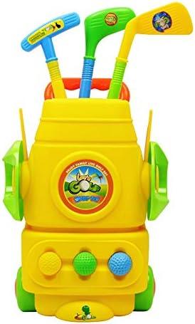 キッズゴルフおもちゃ 子供向けゲームゴルフ玩具セット芝生ガーデン屋外子供向けゲーム芝生ゲーム (Color : As picture, Size : 27.5*14.5*51cm)