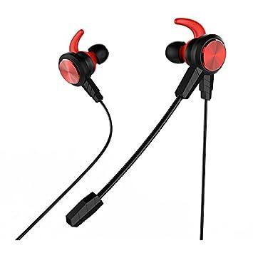 ConPush Cuffie Gaming E-sport Headset con Microfono per PS4, XBOX One per PC Laptop Tablet MAC Tablet iPad MP3 MP4 iPhone Smartphone (rosso)