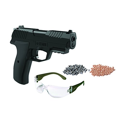Crosman Iceman CCICE7BKT Air Pistol Kit w/100 BB's, Glasses (Copperhead Pellets Crosman)