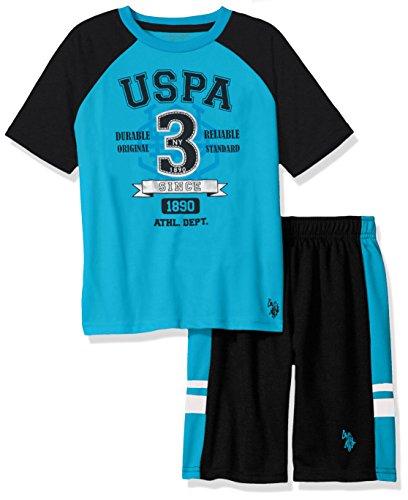 U.S. Polo Assn. Boys Sleeve T-Shirt and Mesh Short Set