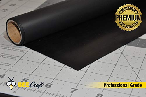 HTV Heat Transfer Vinyl Roll Black - Premium Iron on Vinyl 100% Ultra Matte PU - 15.7