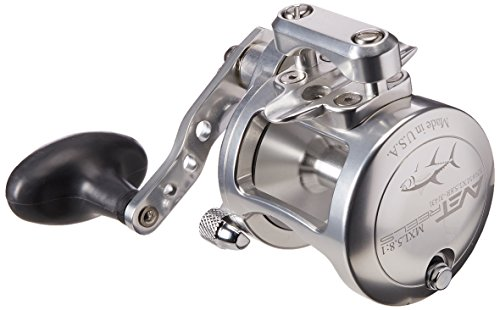 - Avet 5.8:1 Lever Drag Conventional Reel, Silver, 300 yd/20 lb