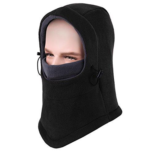 COOLOO Womens Lightweight Balaclava Ski Face Mask for Men, Women and Children, Soft Warm Fleece Ear-Flap Winter Hat Hood for Outdoor Sports