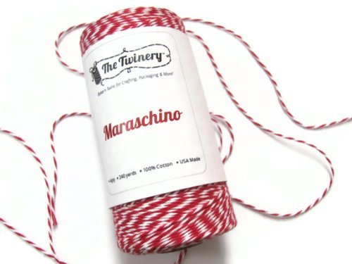 Maraschino Red Baker's Twine, 240 Yard Spool The Twinery