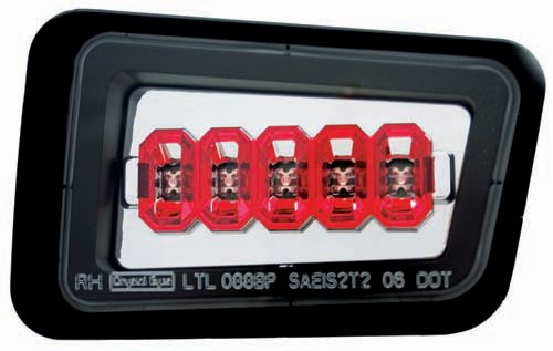 IPCW LEDT-343BPC Crystal Clear Rear Bumper Light - Pair (Light Rear Bumper)